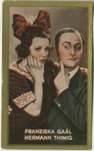 Franciska Gaal and Hermann Thimig