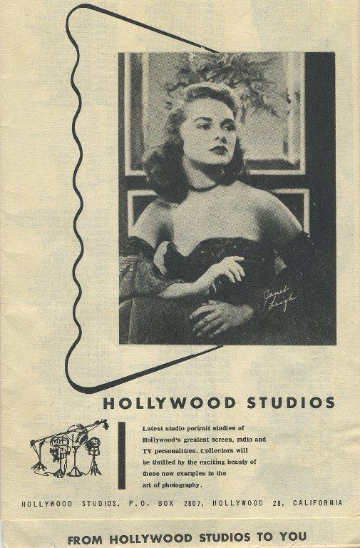 1950s Hollywood Studios Portrait Brochure