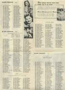 1950s Hollywood Studios brochure sales listings