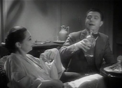 Aline MacMahon and Frank McHugh in One Way Passage