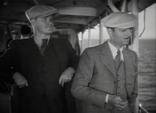 Warren Hymer and William Powell in One Way Passage