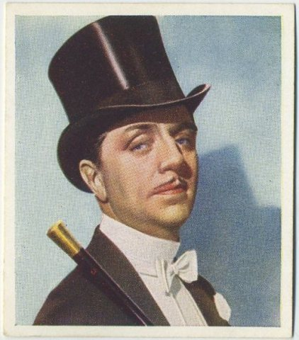 William Powell as Ziegfeld on a 1938 Godfrey Phillips tobacco card