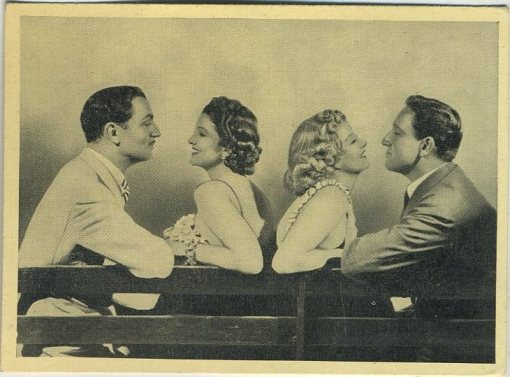 William Powell, Myrna Loy, Jean Harlow and Spencer Tracy 1940 A and M Wix Tobacco Card