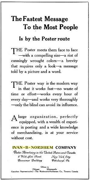 1922 Ivan B Nordem Advertisement