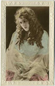 Mary Pickford Color Tinted Postcard