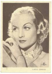 Carole Lombard 1930s Aguila Premium Card