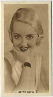 Bette Davis 1933 United Kingdom Tobacco Card