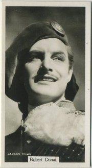 Robert Donat 1937 John Sinclair Tobacco Card