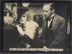 Bette Davis and Leslie Howard 1930s Tobacco Card Spain