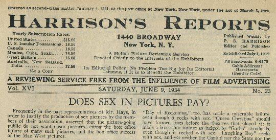 Harrisons Reports June 9 1934