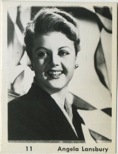 Angela Lansbury 1950s era real photo trading card