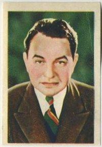 Edward G Robinson 1936 Nestle Trading Card