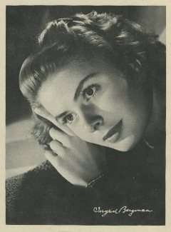 Ingrid Bergman 1946 Motion Picture Magazine Premium Photo