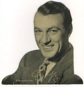 Gary Cooper 1930s Quaker Standee