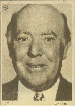 Guy Kibbee 1930s Aguila Premium Card