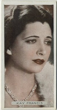 Kay Francis 1934 Ardath Tobacco Card