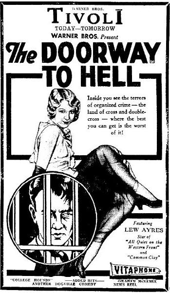 Doorway to Hell ad 1930