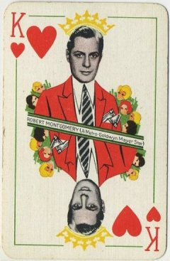 Robert Montgomery 1933 Thomas De La Rue Playing Card