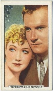 Miriam Hopkins and Joel McCrea 1935 Gallaher Tobacco Card