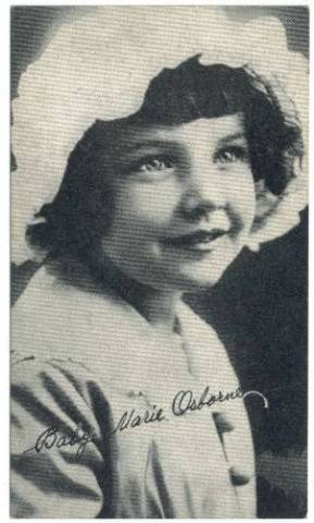 Baby Marie Osborne circa 1917 Kromo Gravure Trading Card