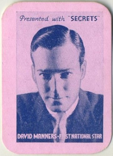 David Manners 1935 Secrets card