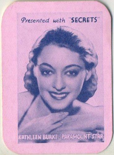 Kathleen Burke 1935 Secrets Card