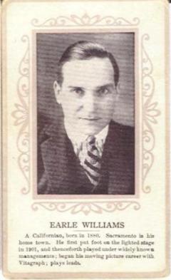 Earle Williams circa 1915 Trading Card