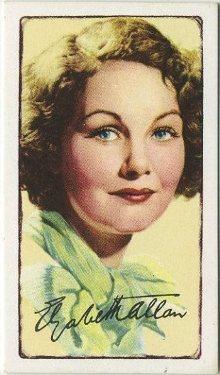 Elizabeth Allan 1935 Gallaher Tobacco Card