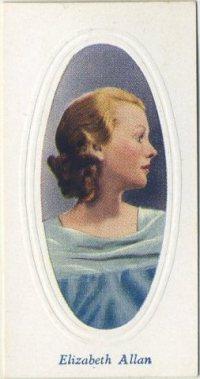 Elizabeth Allan 1936 Godfrey Phillips Tobacco Card