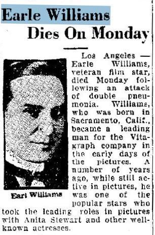 Earle Williams Obituary