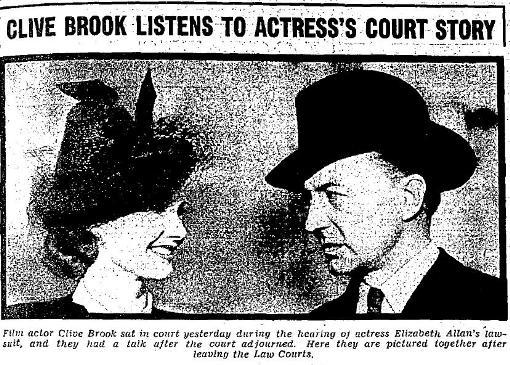 Elizabeth Allan and Clive Brook