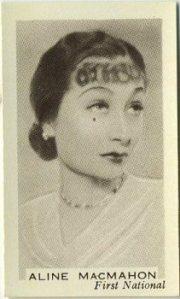 Aline MacMahon 1936 Facchinos Trading Card