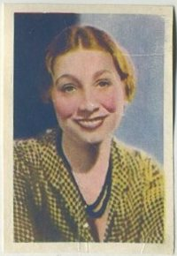 Aline MacMahon 1936 Nestle Trading Card