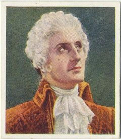 Basil Rathbone as St. Evremonde 1938 Godfrey Phillips Tobacco Card