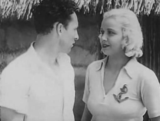 Clyde Beatty and Cecilia Parker