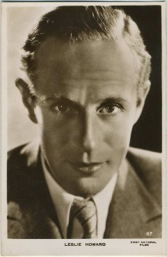 Leslie Howard 1930s Real Photo Postcard