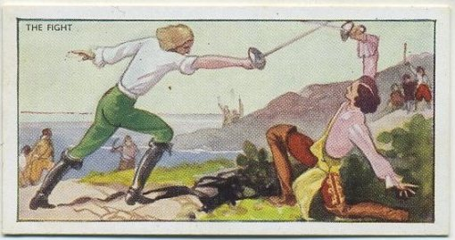 The Fight tobacco card from 1937 B Morris Captain Blood set