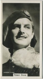 Robert Donat 1937 John Sinclair Tobacco Card