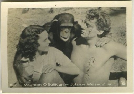 Weissmuller OSullivan and Friend 1930s A Batschari German Tobacco Card