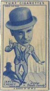 James Cagney 1949 Turf Tobacco Card