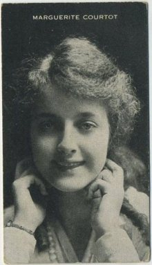 Marguerite Courtot circa 1917 trading card