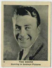 Tom Moore 1920s Schinasi Brothers Trading Card