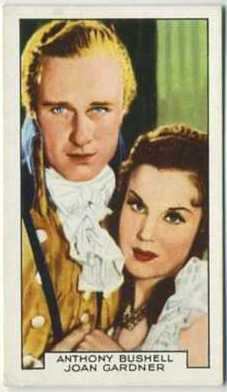 Anthony Bushell and Joan Gardner in The Scarlet Pimpernel on a 1935 Gallaher Tobacco Card