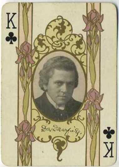 David Warfield - 1908 Playing Card