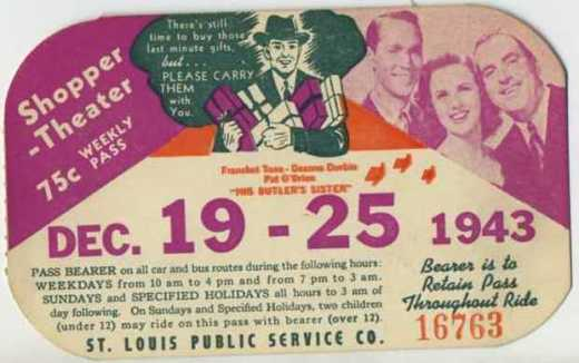 """December 19-25, 1943 - Franchot Tone, Deanna Durbin and Pat O'Brien in """"His Butler's Sister"""" - Sold April 16, 2009 for $32.00"""