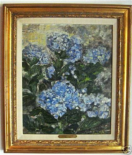 Blue Brazil done by Janet Gaynor in the mid-1970's hangs in the home of VintageMeld contributor Charles Triplett