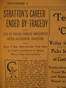 Stratton's Career Ended by Tragedy