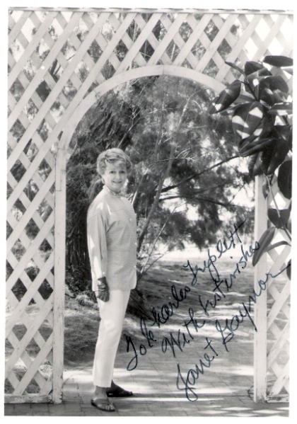 Another later photo of Miss Gaynor, this one autographed to Charles Triplett