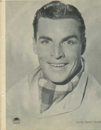 Buster Crabbe featured on a 1934 Dixie Premium Photo