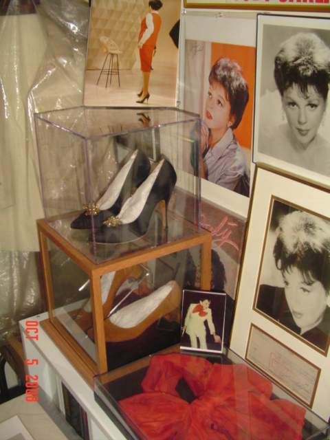 Judy Garland's shoes on display.
